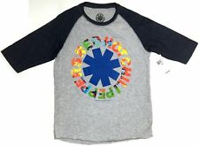 Boys Youth Red Hot Chili Peppers RHCP RAINBOW NEON ASTERISK Raglan T-Shirt NWT