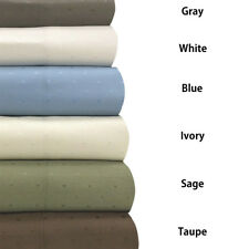 Royal Tradition Woven Dots 600 Thread Count Sheet Set & Pillowcases Collection