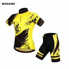 Men's Cycling Bicycle Bike Comfortable Jersey Short Shirt Set for Outdoor Sports