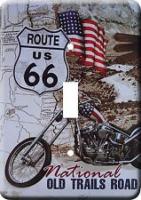Route 66 Vintage Style  Designs Metal Switch light Cover Plate #01