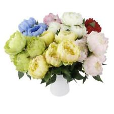 5 Heads Artificial Silk Flower Bouquet Peony Bridal Wedding Home Decor 7 Colors