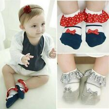 Newborn Baby Girl Princess Cute Bowknot Anti-Slip Socks Slipper Shoes Boots 0-3Y