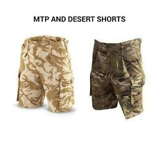 BRITISH ARMY COMBAT SHORTS - MTP AND DESERT CAMOUFLAGE - USED GRADE 1 - SUMMER