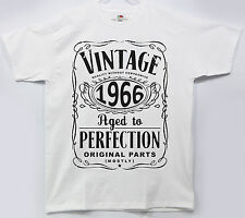 Vintage 1966 Year Birthday Tshirt Gift Limited Edition Aged to Perfection P016