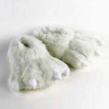 Polar Bear Paw Slippers - White Animal Feet Slippers