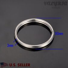 Wholesale Stainless Steel Split Rings Key Rings Jewelry Making Supplies 30x3mm