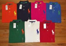 NWT Womens Polo Ralph Lauren Fitted Polo Shirt BIG PONY LOGO Choice 7-Colors *1Y