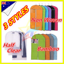 Suit Garment Dress Clothes Travel Cover Bag Dustproof Non Woven  Bamboo Clear