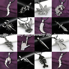 Fashion Cool Women Men Pendant Necklace Best Jewelry Gifts Black Stainless Steel