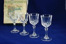 Reldeck by Lawn Set of 4 Cordial or Port Glasses Vtg. 40's w/ Box Top MINT USA
