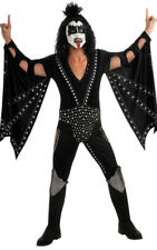LICENSED KISS DELUXE DEMON ROCK GENE SIMMONS MENS ADULT FANCY DRESS UP COSTUME