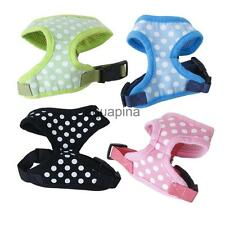 Various Pet Dog Puppy Polka Dots Soft Mesh Harness Clothes Apparel Size XS-XL