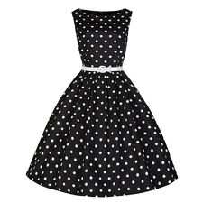 Women's Casual Fashion Sleeveless Polka Dot Printed Elegant Vintage Party Dress
