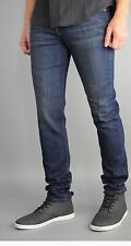 Indigo blue skinny jeans faded  made  in the USA Skinny fit stretch