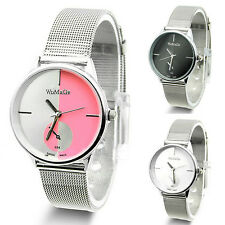 Fashion Women Lady Girls Stainless Steel Quartz Dress Wrist Watch Watches MKLG