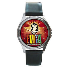 New Evita the musical Men & Woman Metal Watch Round Italian Charm Collection
