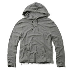 NEW ABERCROMBIE & FITCH for MEN * A&F Buck Pond Zip Hoodie Tee Jacket * H Gray
