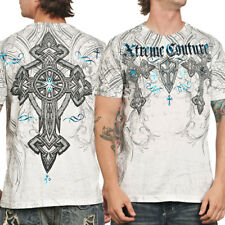 Xtreme Couture Duel Crosses Celtic Medieval Ornate UFC MMA Mens T-Shirt White S