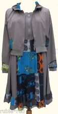 NEW WT Boutique Quirky Boho Dress & Jacket Set Mocha SIZES 16 18 20