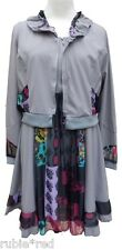NEW WT Boutique Quirky Boho Dress & Jacket Set Grey SIZES 16 18 20
