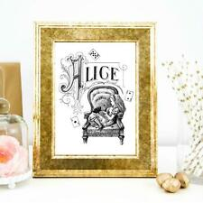 Vintage Style Alice In Wonderland 3 Wall Art Print Quote Print Home Office Decor