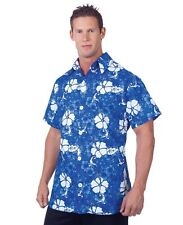 Blue Hawaiian Aloha Adult Mens Shirt