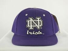 NOTRE DAME FIGHTING IRISH ADULT 7 1/2, 7 3/8 NCAA FITTED CAP HAT PURPLE D118
