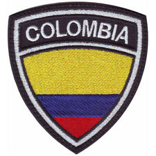 COLOMBIA CREST FLAG EMBROIDERED PATCH
