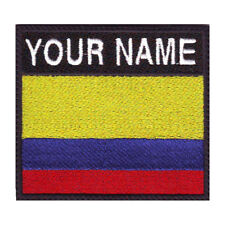 COLOMBIA BADGE CUSTOM FLAG EMBROIDERED  PATCH