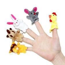 2X Cartoon Animal Finger Puppet+Hand Puppet Baby Finger Doll Education Plush Toy