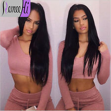 """Silky Straight 100% Indian Remy Human Hair 12""""-24"""" Lace Front/Full Wig Beauty"""