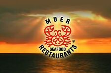 Muer Seafood Restaurant Gift Card $50/ $75 US Mail Delivery