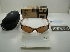 COSTA DEL MAR POLARIZED SUNGLASSES HAMMERHEAD HH81 OAP WOOD/AMBER 580P LENS NEW