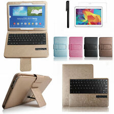 "Luxury Bluetooth Keyboard Leather Case Cover For Samsung Galaxy Note 10.1"" P600"