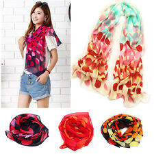 New Fashion Dot Girls Women Long Soft Wrap Lady Shawl Silk Chiffon Scarf Warm TI