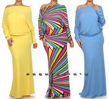 ON OFF SHOULDER OPEN BACK REVERSIBLE CONVERTIBLE MAXI DRESS YELLOW BLUE WHITE