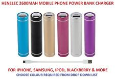 HENELEC COMPACT UNIVERSAL 2600MAH EMERGENCY POWER BANK MOBILE PHONE CHARGER