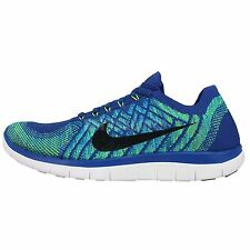 Nike Free 4.0 Flyknit Blue Black Mens Running Shoes Nike Free Run 717075-400