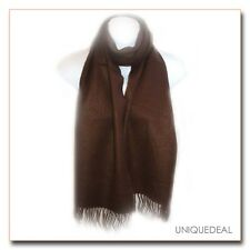 """New Fashion *D&Y* Solid Men's """"SOFTER THAN CASHMERE?"""" Scarf / Brown"""
