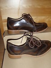 Sebago Claremont Brogue Oxford Shoes Sz 5.5, 6 and 6.5 NWOB Brown Lace up