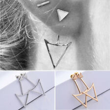 Fashion Women Lady Punk Style Simple Alloy Earrings Triangle Gothic Ear Stud New