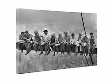 Lunch Atop A Skyscraper Box Canvas Print Wall Art - New York - Choice of Sizes