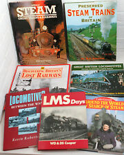 Trains, Steam, Railways themed book collection x 7 titles ~ job lot