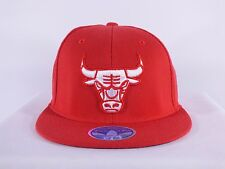 CHICAGO BULLS NBA L/XL 7 1/4-7 5/8 FLEX/FITTED RED CAP HAT BY ADIDAS D122