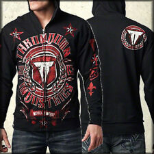 Throwdown Arsenal Nautical Stars Red UFC MMA Athletic Mens Hoodie Black NEW XL