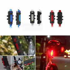 USB Rechargeable Bike Bicycle Cycling Tail Rear Safety Warning Light Lamp 5 LED
