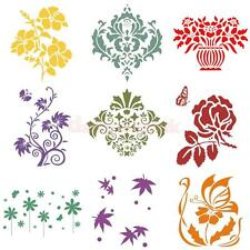 Wall Painting Grain Stencil Pattern Paint Effect Ideal Home Decor DIY Template