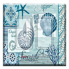 Light Switch Plate Cover Seaside Nautical w/ Rocker Switch  Outlet