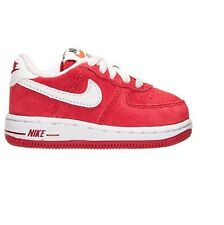 NIKE AIR Force1 Low 596730 610 Red White Casual Shoes Infant Toddler Baby Shoes