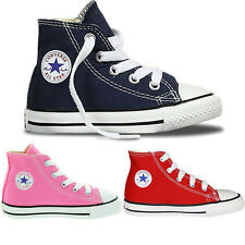 Kids Lace Up Hi Top Toddlers All Star Converse Infants Canvas Trainers Shoes Uk